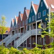 Apartment houses in the Netherlands - Stock Photo