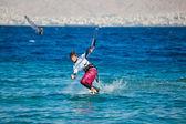 Kite surf en el mar — Foto de Stock