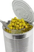 Preserved peas — Stock Photo