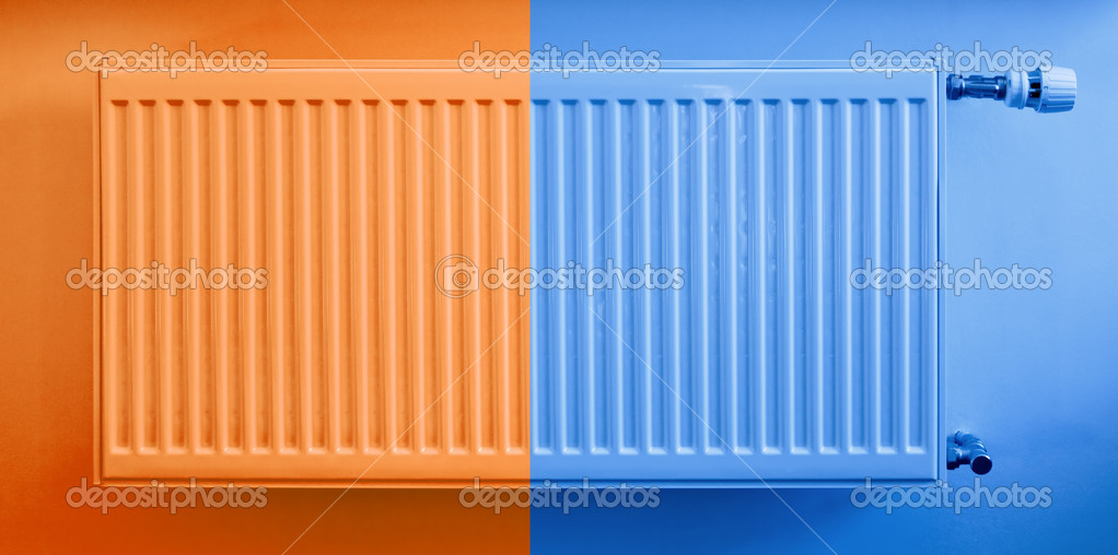 Hot and cold radiator, warm and cool colors — Stock Photo #9044912