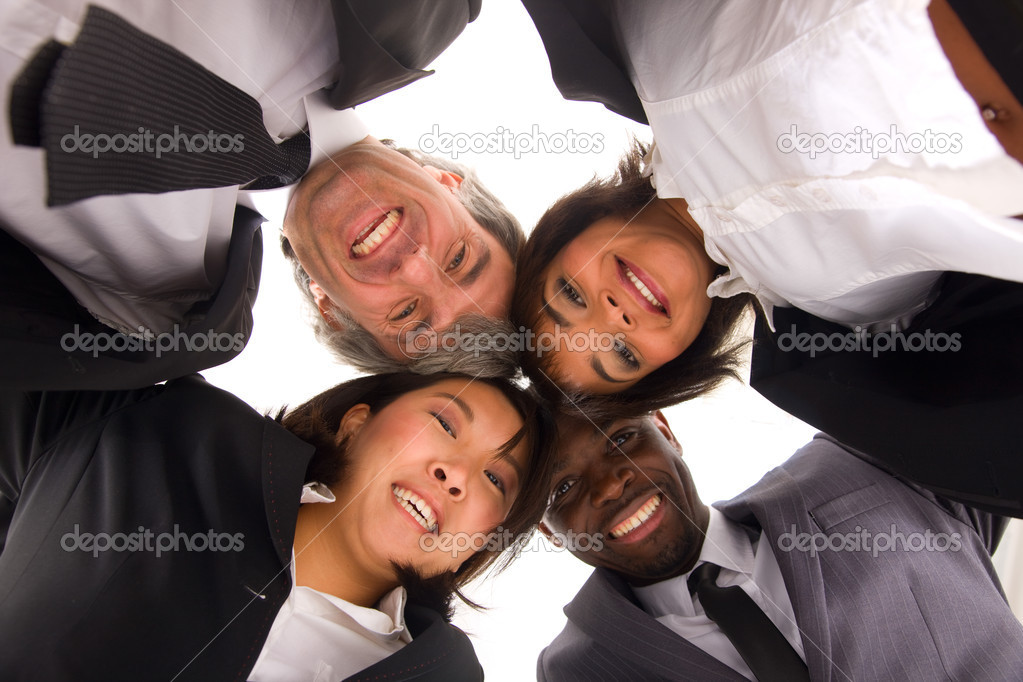 Multi-ethnic team — Stock Photo #8028321
