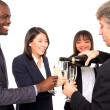 Royalty-Free Stock Photo: Multi-ethnic team toasting