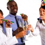 Working team celebrating — Stock Photo