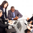 Multi-ethnic team during a meeting — Stock Photo #8031478