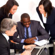 Multi-ethnic team during a meeting — Stock Photo