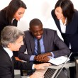 Stock Photo: Multi-ethnic team during meeting