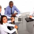 Multi-ethnic team during a meeting — Stock Photo #8031663