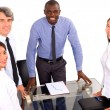 Stock Photo: Multi-ethnic team during a meeting