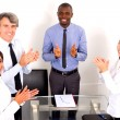 Multi-ethnic team during a meeting — Stock Photo #8031834