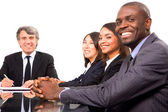 Multi-ethnic team during a meeting — Stockfoto