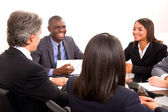 Multi-ethnic team during a meeting — Foto de Stock