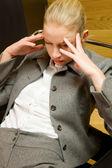 ビジネスの女性の心配 — ストック写真