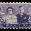 Stock Photo: South AfricPostage Stamp Royal Visit 1947