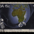 South Africa Postage Stamp Satellite Communication 1975 — Stock Photo