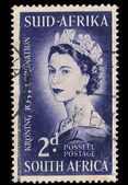 South Africa Postage Stamp Coronation 1953 — Stock Photo