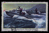 South Africa Postage Stamp Harbour Patrol Boats 1982 — Stock Photo