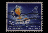 South Africa Postage Stamp Pouring Gold 1963 — Stock Photo