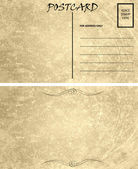 Vintage Empty Blank Postcard Template Front and Back — Stock Photo