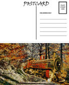 Cartolina vuoto vuoto modello vapore treno immagine — Foto Stock