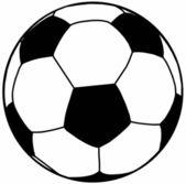 Soccer Ball Silhouette Isolation — Stock Vector