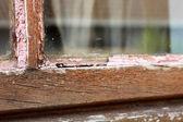 Serramento in legno casa riparazione manutenzione — Foto Stock