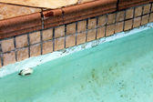 Home Repair Maintenance Cracked Tiles and Pool — Stock Photo