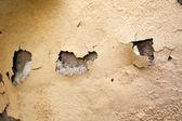 Home Repair Maintenance Water Damaged Peeling External Paint — Stock Photo