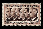 South Africa Postage Stamp Prime Ministers 1910-1960 — Stock Photo