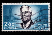 South Africa Postage Stamp Verwoerd 1901-1966 — Stock Photo
