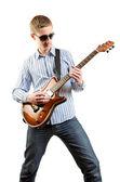 Guitar player playing his guitar — Stock Photo