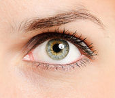 Beautiful young woman's eye — Stock Photo