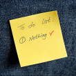 Stock Photo: A yellow sticky note