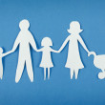 Happy paper family — Stock Photo