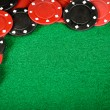 Red and black gambling chips — Stock Photo