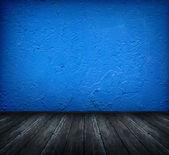 Dunkel blaue zimmer — Stockfoto