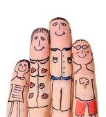 Famiglia di dita — Foto Stock