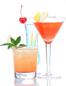 Cocktails alcohol drinks spirits mojito, mai tai, margarita, mar — Stock Photo