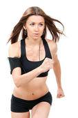Donna sport jogging e in esecuzione — Foto Stock