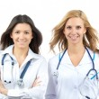 Two young doctor or nurse internship — Stock Photo