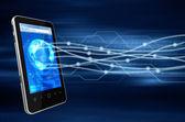 Smartphone communicatieconcept — Stockfoto