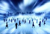 Virtual City with Virtual — Stock Photo