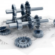 Technical  and Mechanical Engineering Concept — Stock Photo