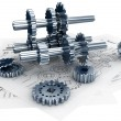 Technical and Mechanical Engineering Concept — Stock Photo #9214295