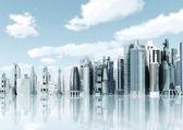 Ciudad futurista de antecedentes — Foto de Stock
