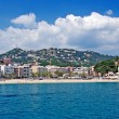 Panoramic cityscape view of Lloret de Mar from sea, Costa Brava, — Stock Photo #7991877