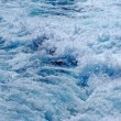 Stormy dramatic blue sea water. Costa Brava. Spain. — Stock Photo