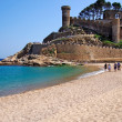 Castle view in Tossde Mar, CostBrava, Spain. — Stock Photo #7991931