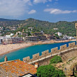 Cityscape of Tossa de Mar, Costa Brava, Spain. More in my Galler — Stock Photo
