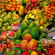Stock Photo: Fruits. World famous Barcelonmarket, Spain. Selective focus.