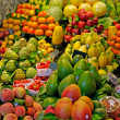 La Boqueria, fruits. World famous Barcelona market, Spain. Selec — Stock Photo